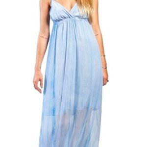 Women's Gypsy05 Light Blue Triangle Top Maxi Dress